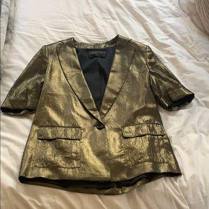 Gold BCBGMAXAZRIA blazer!